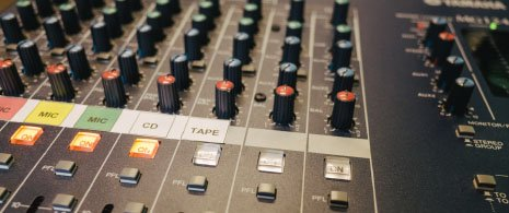 Photograph of the Technician\'s mixing desk