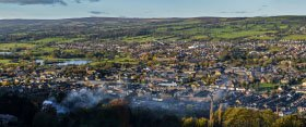 Photograph of Otley from Otley Chevin Forest Park